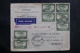 CONGO BELGE - Enveloppe De Matadi Pour La Belgique En 1947 Par Avion , Affranchissement Plaisant Recto/ Verso - L 42113 - Congo Belga