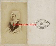 CDV Second Empire--vendée- Femme En Costume Traditionnel Et Coiffe Photographes Piard Et Frères - Antiche (ante 1900)