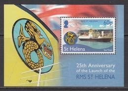 2014  St. Helena Launch Of RMS St. Helena Ship   Miniature Sheet MNH - Saint Helena Island