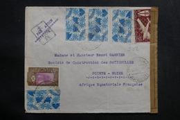 CÔTES DES SOMALIS - Enveloppe De Djibouti Pour Pointe Noire En 1944 Avec Contrôle Postal , Affr. Plaisant - L 42118 - Lettres & Documents