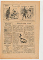 2 Scans Presse1899 Histoire De Chats Ernest Blum Chat Animal 226CH8 - Vieux Papiers