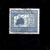 Allemagne - P.A. (Y&T) 1938. N°57  * Centenaire De La Naissance Du Comte Von Zeppelin*     25m.  Obli° - Poste Aérienne