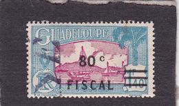 GuadeloupeTimbre Fiscal Sur Postal  80 C Sur 1.4 F - Guadalupe (1884-1947)