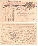 Carte CORRESPONDANCE MILITAIRE Adressée à TUNIS RP Tunisie Censure VISE Retour à L'envoyeur Ob 11 6 1916 Texte En Arabe - Postmark Collection (Covers)