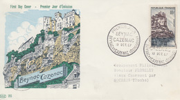 Enveloppe  FDC  1er Jour   FRANCE    BEYNAC - CAZENAC    1957 - 1950-1959