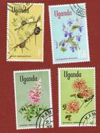 UGANDA   - SG 141.144a   -  1969  FLOWERS      - USED ° - Uganda (1962-...)