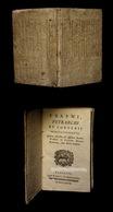 [PHILOSOPHIE ERASME BARBOU] ERASMI - Selecta Colloquia. - 1701-1800