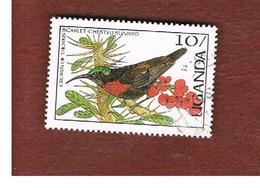 UGANDA   - SG 561   -  1987 BIRDS: SCARLET-CHESTED SUNBIRD      - USED ° - Uganda (1962-...)