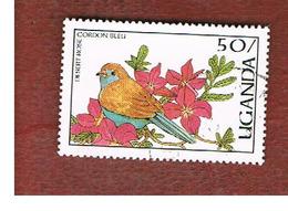 UGANDA   - SG 565   -  1987 BIRDS: CORDON BLEU      - USED ° - Uganda (1962-...)