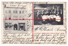 Znaim Gasthof Nickerl Zum Schwarzen Bären Geschäft Pointner 1903 Znojmo - Czech Republic