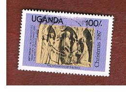 UGANDA   - SG 609   -  1987 CHRISTMAS     - USED ° - Uganda (1962-...)