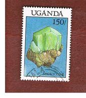 UGANDA   - SG 627   -  1988 MINERALS: MICROCLINE     - USED ° - Uganda (1962-...)