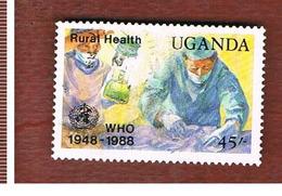 UGANDA   - SG 664   -  1988  O.M.S.: RURAL HEALTH    - USED ° - Uganda (1962-...)