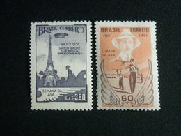 Brazil, 1951 Santos Dumont's Flight Around The Eiffel Tower Scott #713-714 MNH Cv. 3,60$ - Unused Stamps