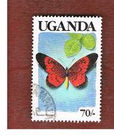 UGANDA   - SG 751   -  1989  BUTTERFLIES: ACRAEA PERENNA (UGANDA  BLACK)     - USED ° - Uganda (1962-...)