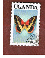 UGANDA   - SG 752   -  1989  BUTTERFLIES: CHARAXES CYNTHIA (UGANDA  BLACK)     - USED ° - Uganda (1962-...)