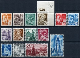 44252) ALL.BESETZUNG Baden # 14-27 Postfrisch Aus 1948, 35.- € - Französische Zone