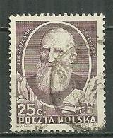 POLAND Oblitéré 644 Kraszewski écrivain Littérature - 1944-.... République