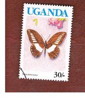 UGANDA   - SG 866A   -  1990  BUTTERFLIES: PAPILIO ECHERIOIDES  (UGANDA  BLUE)     - USED ° - Uganda (1962-...)