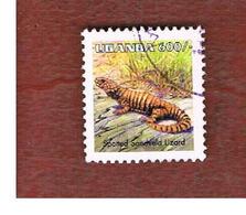 UGANDA   - SG 1520a  -  1998  REPTILES: NUCRAS INTERTEXTA     - USED ° - Uganda (1962-...)