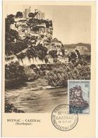 Carte Maximum 1957 - Beynac  Cazenac YT 1127- Dordogne - 1950-59