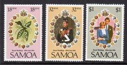 SAMOA - 1981 ROYAL WEDDING SET (3V) FINE MNH ** SG 599-601 - Samoa