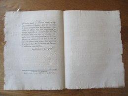 LOI DONNEE A PARIS LE 16 AOÛT 1792 L'AN QUATRIEME DE LA LIBERTE DECRET DE L'ASSEMBLEE NATIONALE SIGNE ROLAND CONTRESIGNE - Décrets & Lois
