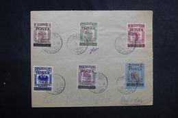 ALBANIE - Affranchissement Plaisant ( Fiscaux Surchargés ) En 1919 Sur Enveloppe De Scutari, Signée - L 42133 - Albanie