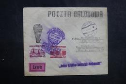 POLOGNE - Enveloppe Par Ballon En 1936, Affranchissement Et Cachets Plaisants - L 42134 - Ballonpost