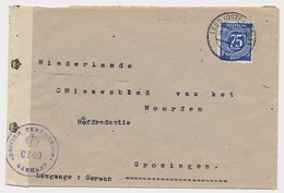 Censored Cover Germany British Zone - Netherlands 1947 - American/British Zone