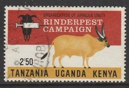 Kenya 1971 O.A.U. Rinderpest Campaign 2/50 Sh Multicoloured SW 194 O Used - Kenya (1963-...)