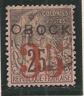 Obock - 1892 - N°Yv. 29 - Alphée Dubois 35 Sur 25c Noir Sur Rose - Oblitéré / Used - Gebraucht