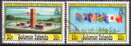 SOLOMON ISLANDS 1993 SG #767-68 Part Set (2 Stamps Of 4) Used 50th Anniv Of WW II - Salomon (Iles 1978-...)