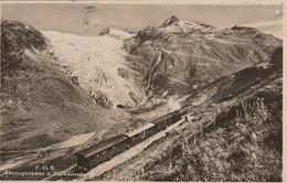 Carte Postale Ancienne De Suisse - F.OB. - Rhonegletscher U. Furkastrasse - Train - Unclassified