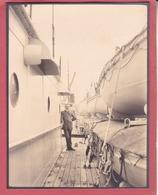 SAINT-NAZAIRE Sur L'Espagne En Août 1929 Photo Amateur Format Environ 7,5 X 5,5 Cm - Bateaux