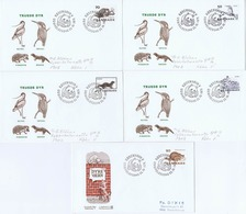 Denmark; 1975; Endangered Species And Animal Protection; WWF,  5 FDC With Panda Postmark - FDC