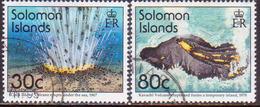 SOLOMON ISLANDS 1994 SG #812//14 Part Set (2 Stamps Of 4) Used Volcanoes - Solomon Islands (1978-...)