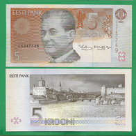 ESTONIA - 5 KROONI – 1994 - UNC - Estland