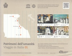 2013 San Marino UNESCO  Miniature Sheet Of 4 MNH  CHEAP!!  ***Wavy Corner Bottom Right ** Stamps Perfect - Ongebruikt