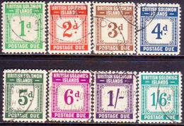 British Solomon Islands 1940 SG D1-D8 Compl.set Used Postage Dues CV £130 - British Solomon Islands (...-1978)