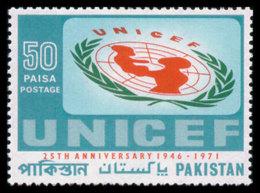 Pakistan, 1971, UNICEF 25th Anniversary, United Nations, MNH, Michel 317 - Pakistan