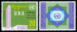 Pakistan, 1970, United Nations 25th Anniversary, MNH, Michel 289-290 - Pakistan