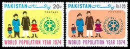 Pakistan, 1974, World Population Year, United Nations, MNH, Michel 363-364 - Pakistan