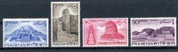 Pakistan, 1963, Archaeology, Monastery, Stupa, MNH, Michel 194-197 - Pakistan