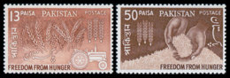 Pakistan, 1963, Freedom From Hunger, FAO, United Nations, MNH, Michel 190-191 - Pakistan