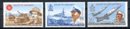 Pakistan, 1965, Armed Forces, Army, Navy, Air Force, Ship, Airplane, MNH, Michel 221-223 - Pakistan