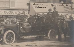 San Remo - Auto Avec Touristes - Carte Photo 1910 - Cook & Son - San Remo