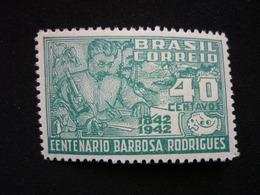 Brazil, 1943 Jose Barbosa Rodrigues Scott #616 MNH Cv. 1,25$ - Brésil