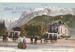 Engelberg - Hotel Terminus Und Titlis - Hotel Edelweiss - Carte D'un Interné (Prisonniers De Guerre) - OW Obwald