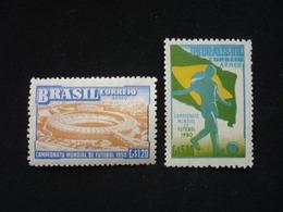 Brazil, 1950 4th World Soccer Champlonship, Rio Air Mail Scott #C78-C79 MNH Cv. 4,85$ - Brésil
